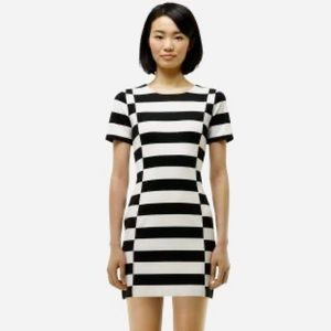 Club Monaco Double Knit Mini Dress Color Block-0